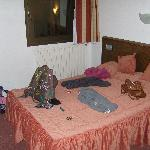 Our room.. a little messy but comfortable!