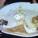 This was what the plate looked like after we ate.