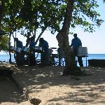 Steel band on beach