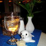 Floaty seal came to dinner with us at the Fisherman's Wharf