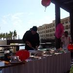 Oscar doing a sushi demonstration- try all different types of sushi!