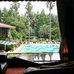 rest area, view of pool