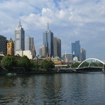 Skyline of Melbourne from Yarra River