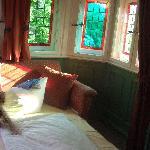 il divano-letto nel bovindo