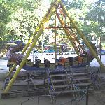 small amusement park next door