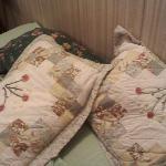 The assortment of pillows/shams