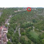 Le Belvédère vu des remparts du château