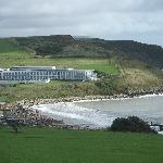 view from Bowleaze cove of the hotel
