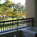 Bain sur balcon
