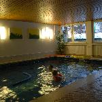The heated indoor pool