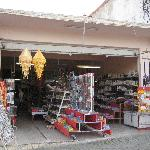Souvenir shop steps from Bella