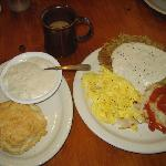 Chickn Fried Steak and Eggs