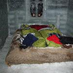 Our first night in an ice cabin