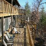 The main floor deck