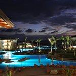 Swimming pool- at dusk