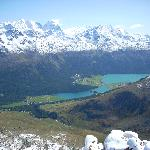 View from the Piz Nair behind St Moritz Dorf