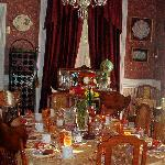 Dining Room prepared for breakfast