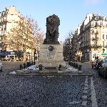The lion in Denfert-Rocherau Place