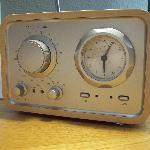 Retro radio in room.