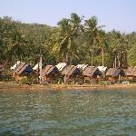 Huts from boat
