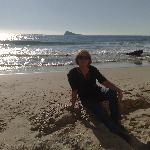 On the beach Jan 2nd Benidorm