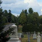 Churchyard with Highway