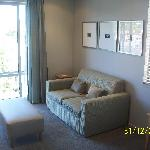 Lounge area, with LCD TV, CD & DVD player