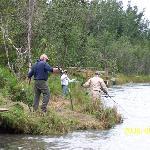 Bank fishing near Funny Moose Lodge