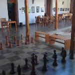Chess by the breakfast tables