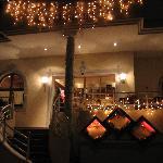 Der Eingang zum Hotelrestaurant