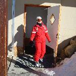 Door to ski room