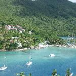 The view of Marigot Bay