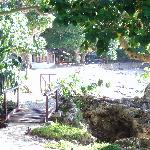 path to the restaurant and beach