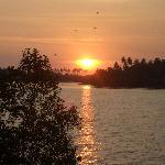 Sunset over lagoon