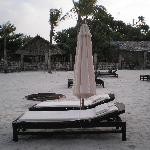 beach chairs at the resort