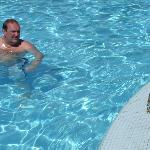 Iggy joining Steve for a dip in the pool