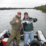Silver fishing on the Kenai River