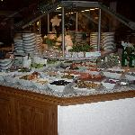Part of the enormous breakfast buffet.
