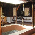 Living room of cottage