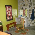 Room with stone and wonderful design