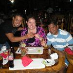Josue, Lanae & Jorge @ the restaurant