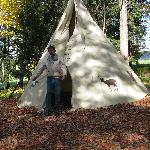 Tepee along Maple Trail; Indians first discovered maple sweetening