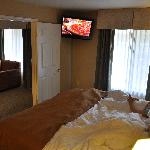 Nice flat screen TV in the bedroom