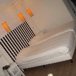 Bett im Hotelstudio