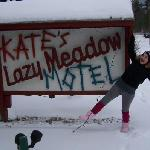 Me at the Motel Sign!