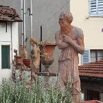 Terrace statuary at the Bargellino
