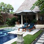 Our own private villa with pool.