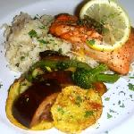 Sockeye Salmon with Lemon risotto