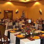 Ballroom set up for Gala