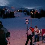 The night skiing was fantastic